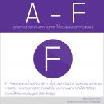 A – F : สูตรการสื่อสารระหว่างบุคคล ให้ได้ผลและเกิดความสำเร็จ